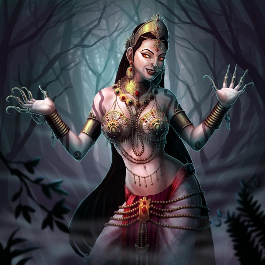Férfiak vérét szívja yakshi, az Indiaik vámpírja